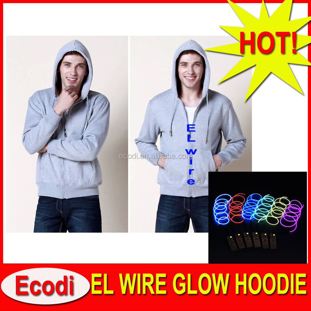 party crazy led light costume, luminous sound activated coat led hoodies