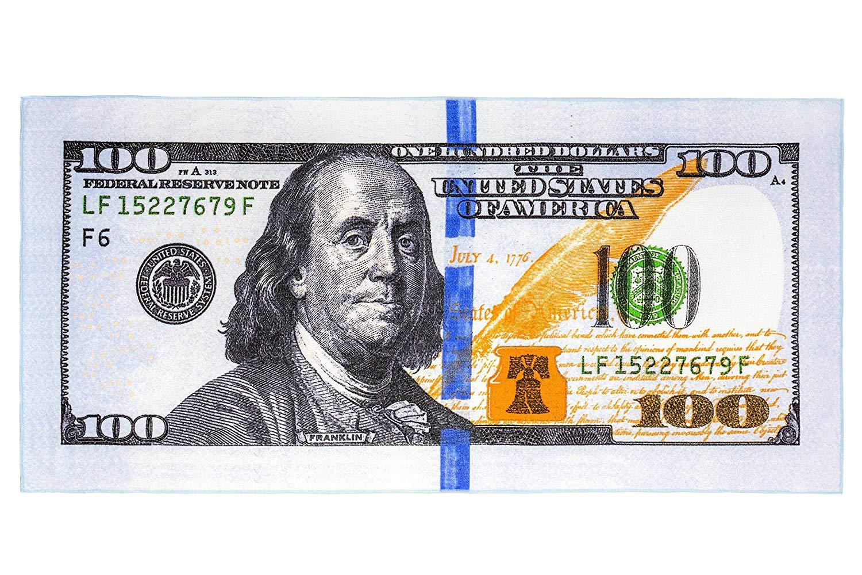 Get Quotations New 100 Dollar Bill Print Microfiber Beach Towel Polyester 28