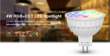 Casa ha condotto il mini luce del punto del <span class=keywords><strong>led</strong></span> 4 W colore e la luminosità variabile wifi frequenza rf rgb + cct <span class=keywords><strong>mr16</strong></span> <span class=keywords><strong>led</strong></span> lampadine