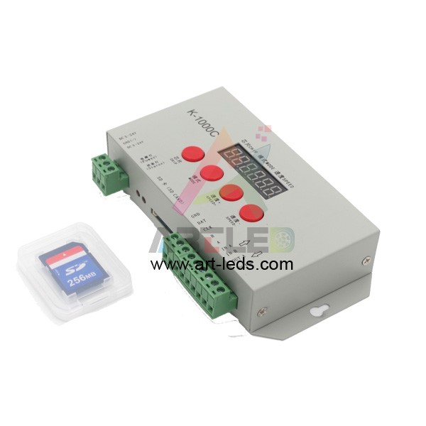 k1000c programmable sd card led pixel digital controller 2048 pixels