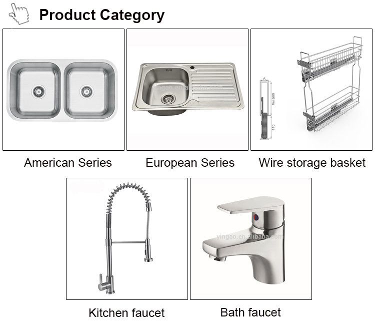 Factory price family usage  deep used commercial stainless steel sink