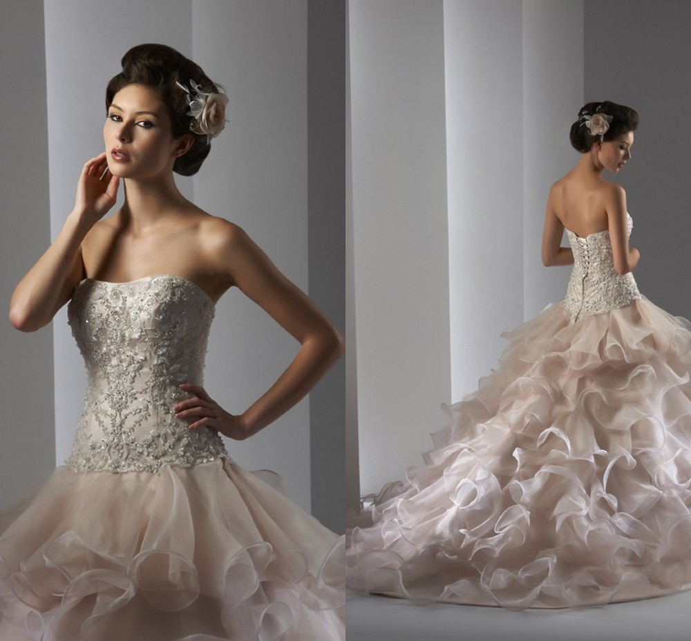 2014 Classic Ball Gown Sweetheart Beaded Embroidery