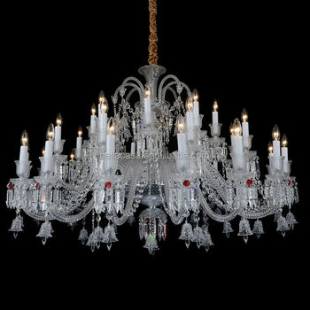 Large Big Hotel Crystal Stairs Pendant Hanging Chandelier