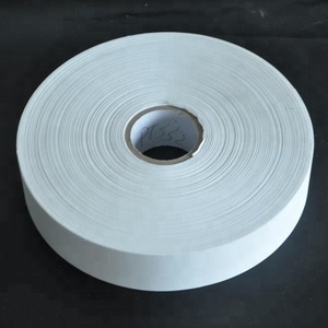 China supplies Cloth Label White Solid Color Polyester Fabric Taffeta Ribbon tape size label For Sale