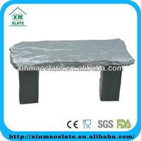 natural slate garden bench for outdoor