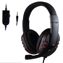 3.5mm Gamer Over-ear Game Gaming Headphone Headset Earphone Headband with Mic Stereo Bass for ps4