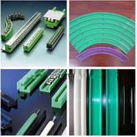 Hot sale engineering plastic cnc maching custom green HDPE linear guide rail