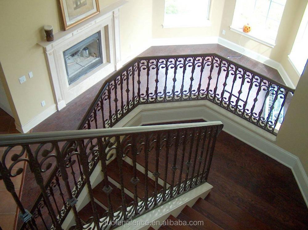 Residencial inoxidables decorativos de hierro forjado - Pasamanos escalera interior ...