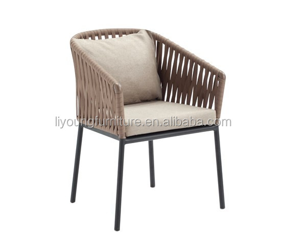 venta caliente marco de aluminio con en polvo apilable jardn al aire libre silla