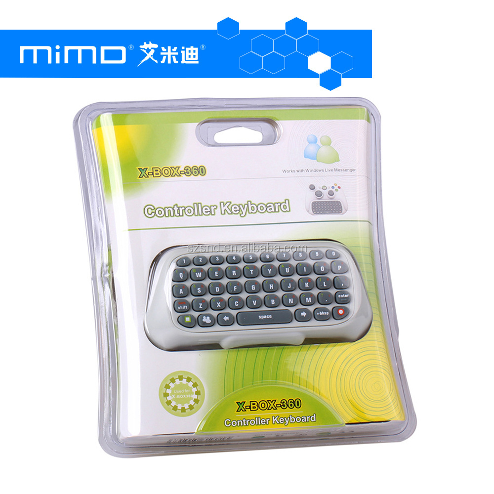 Game Keyboard Keypad ChatPad Wireless Controller Messenger For XBOX 360 Black and White