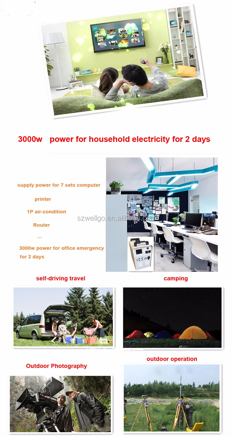 18650 lithium battery 3000w Generator Off Grid Solar System For Home Office Outdoor Camping Emergency Power Supply