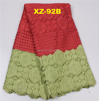 Eco-Friendly Feature African Lace Cotton Guipure Lace Nylon/Cotton Guipure Eyelash Lace Fabric