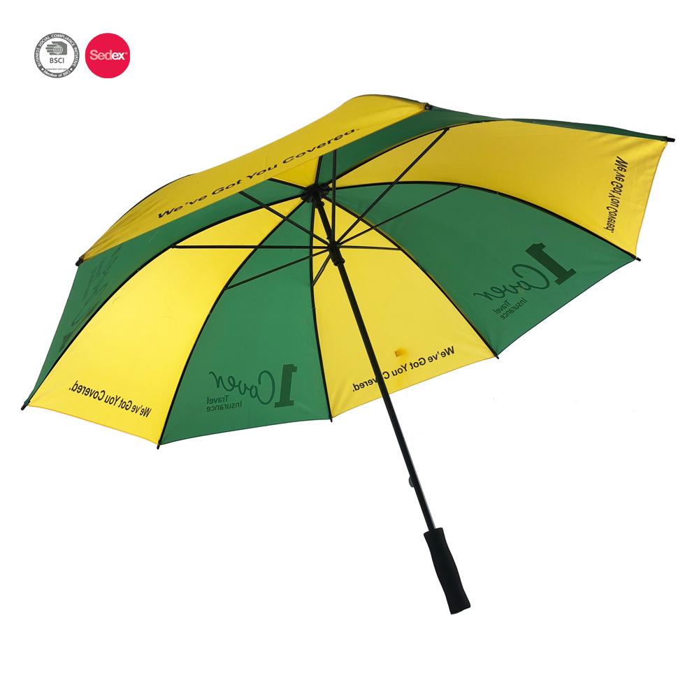 Cheap Big Size 2 Color Double Ribs Eva Handle Men Golf Umbrella ...