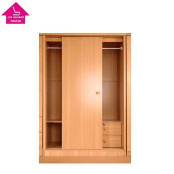 2 door solid sliding door wardrobe with inside 2 drawers buy