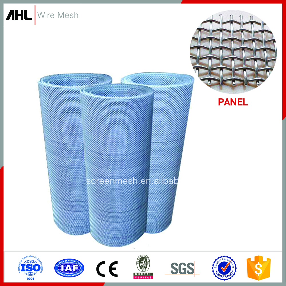 Factory Vibrating Mining Metal Screen for Sale in Roll Panel Galvanized Low Carbon Aluminum Stainless Steel Crimped Wire Mesh