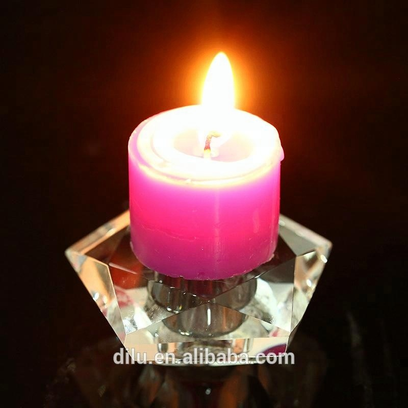 Factory wholesale cheap round crystal glass candle jars for candle making