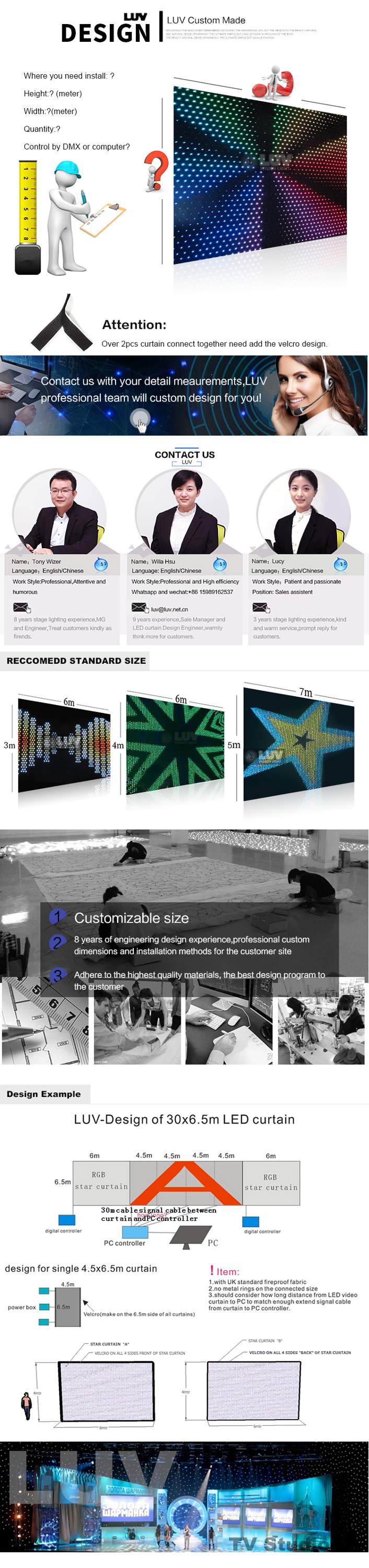 Led curtain concert - Wonderful Soft Led Curtain Screen For Concert Dj Stage Backdrops With Good Price