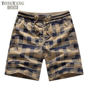 TONGYANG Men Summer Plaid Shorts Classic Design Cotton Casual Beach Short Pants Brand Famous Shorts Plus Size 4XL High Quality