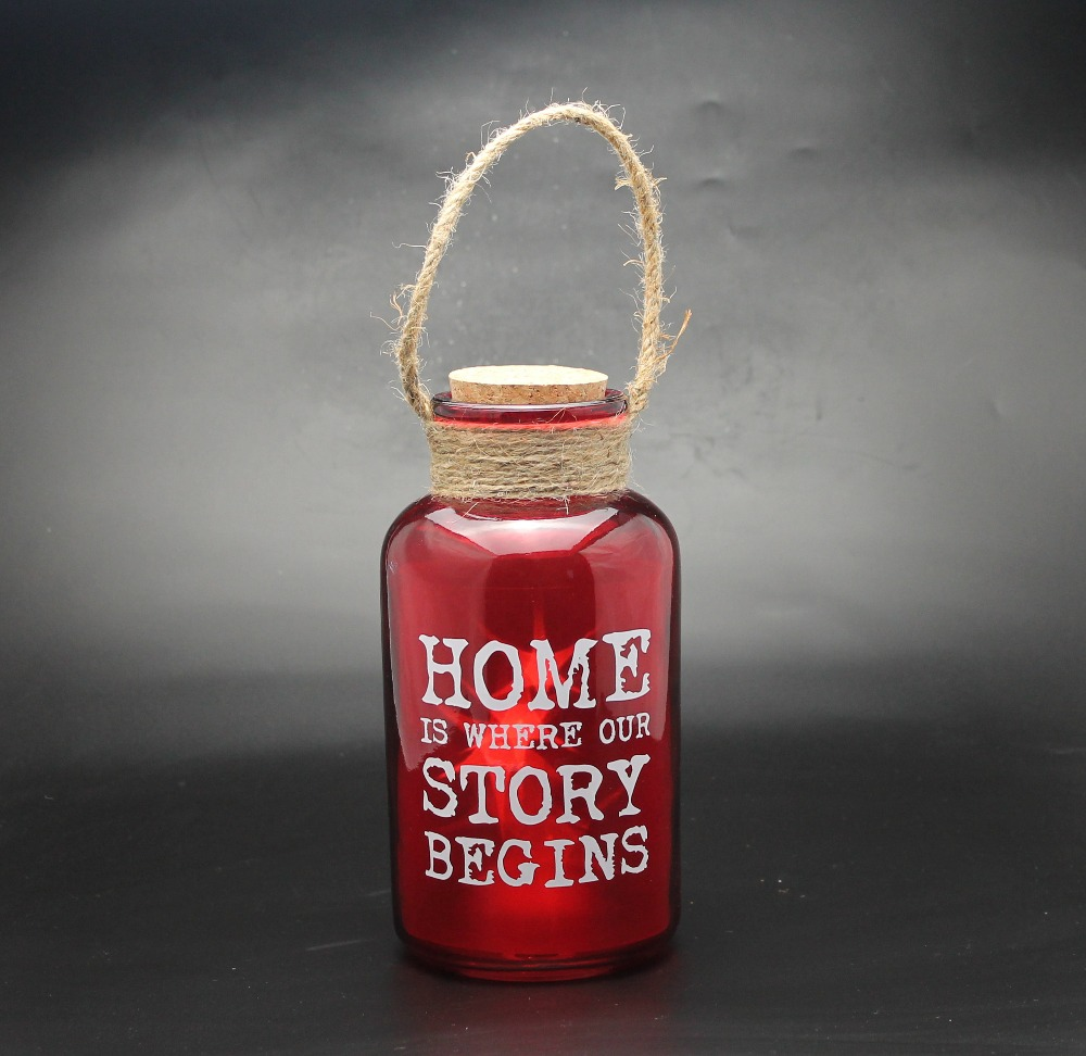 """home is where our story begins"" Cork RED century bottle LED light."