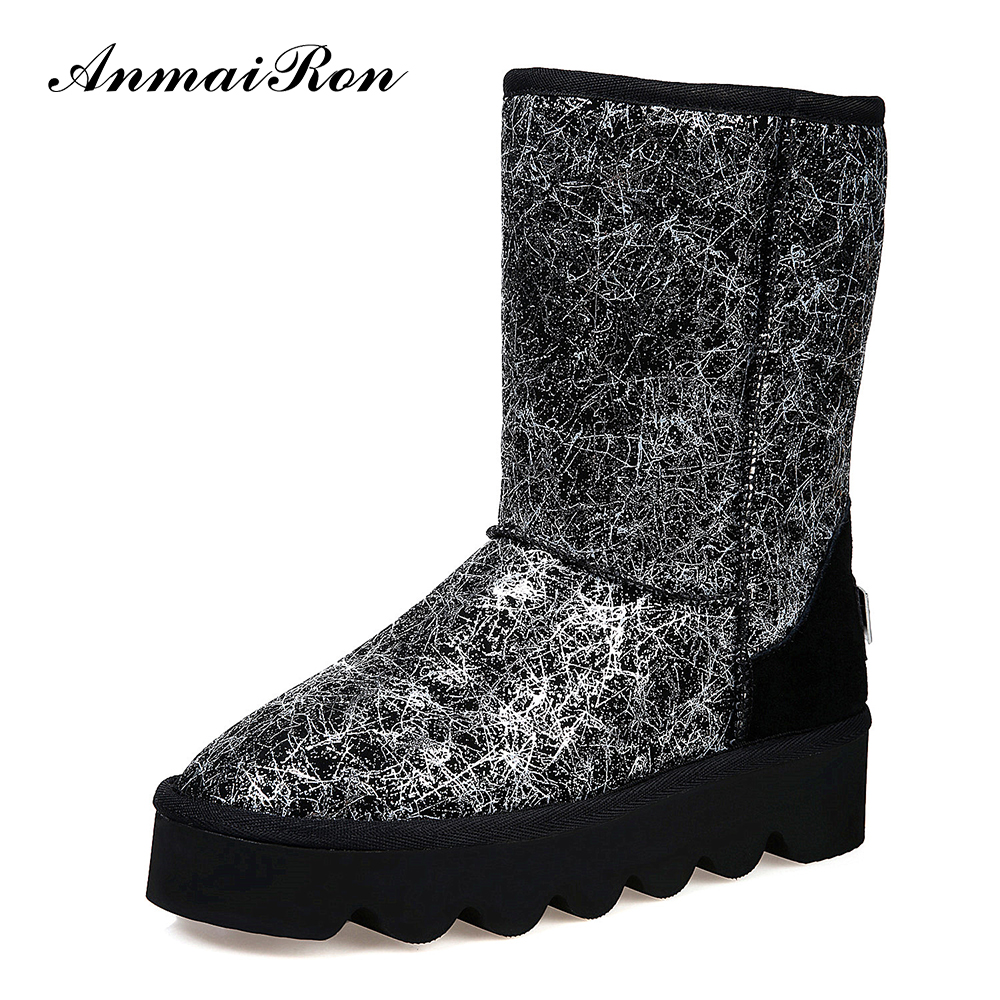 2016 autumn winter new design snow boots ladies fashion metallic material warm half boots