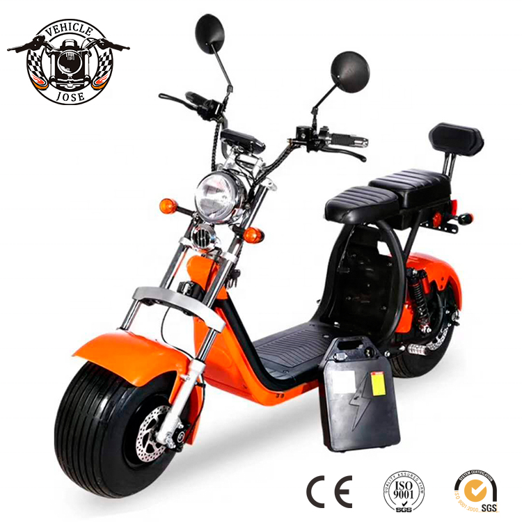 2019 hot sale 18*9.5 wide wheel EEC COC electric scooter 2000w motor 45-60km range with double seat harl citycoco, Customized