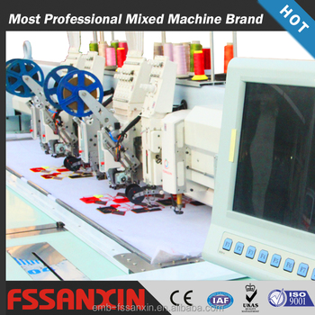high speed 2 head embroidery machine/computer embroidery machine