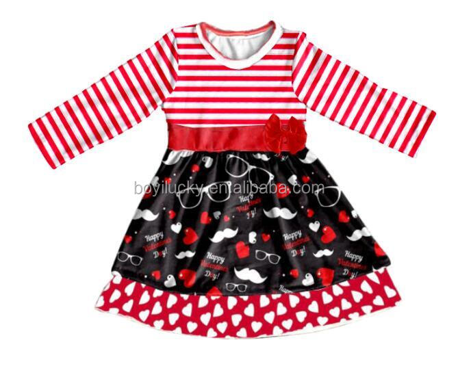 wholesale children's boutique clothing baby girl dress valentines nice dresses for girls