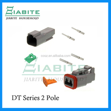 Deutsch DT 2 Pin Gray Connector Kit with 16-20 GA Solid Contacts