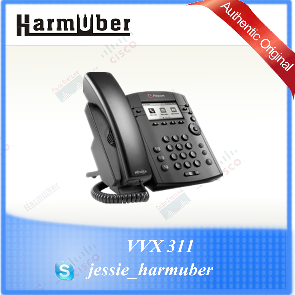 Unsurpassed Voice Quality and Clarity Polycom VoIP Desk Phone VVX 311 IP  Phone, View Polycom, Polycom Product Details from Shanghai Harmuber