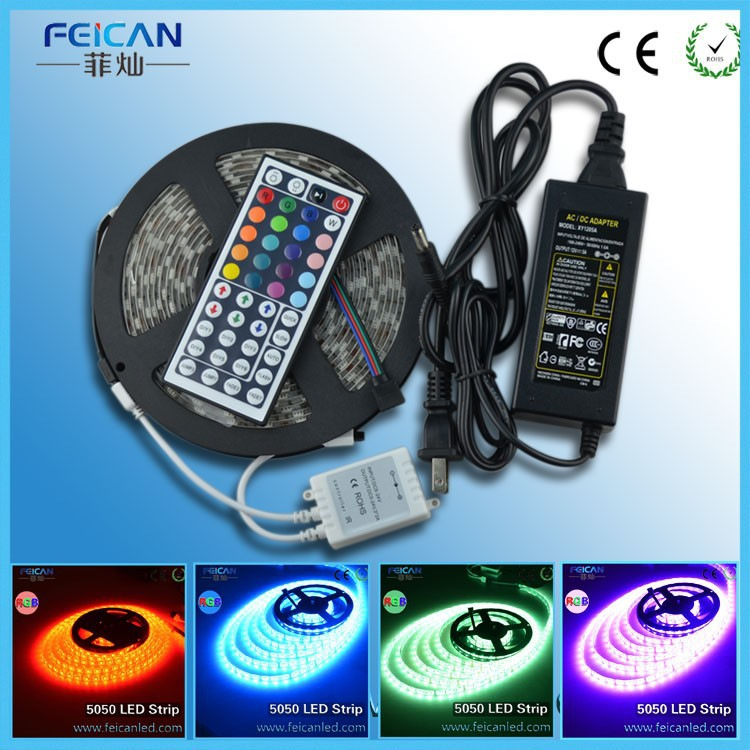 Chinese Factory sale led strip kit including power supply+controller +44 keys IR controller +led strips