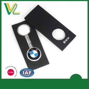 Custom printed bmw keychain with car logo