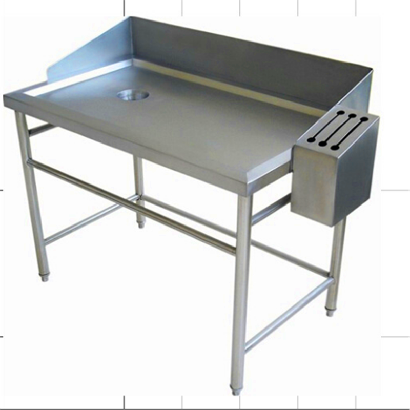 supermarket used stainless steel fish cleaning table with