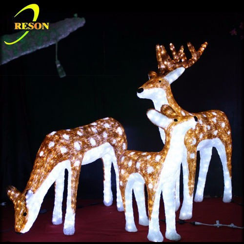 Luces brillantes estupendas del led adornos navide os - Renos de navidad con luces ...