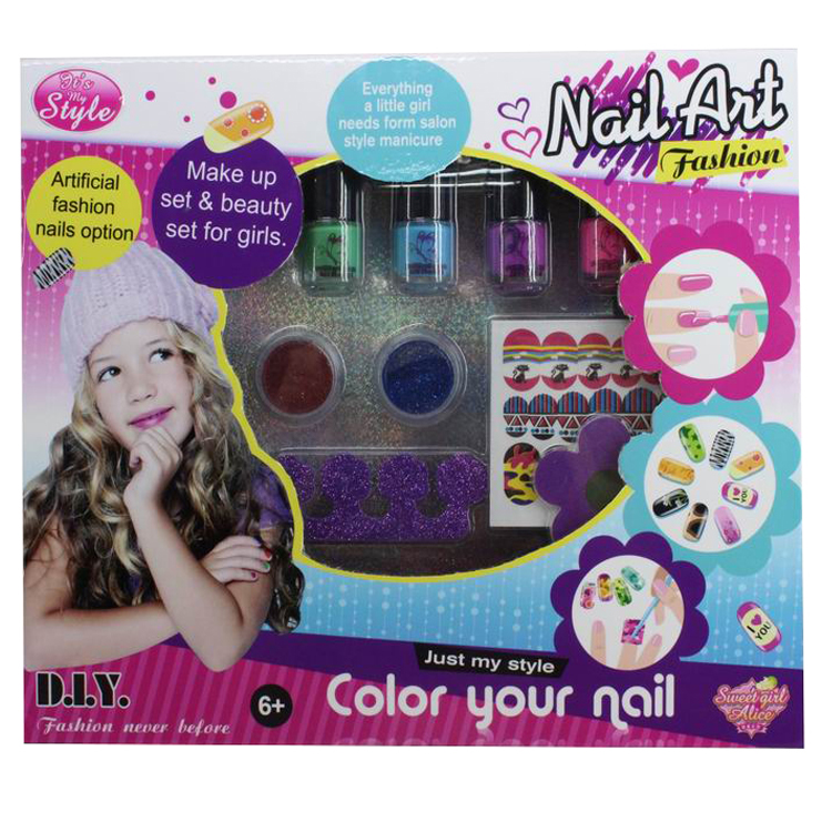 Little Girl Nail Art Cosmetic Toy Kid Nail Polish Set Mak Up Toys