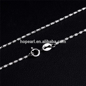 SSN229 Cylinder Link Necklace Fine Jewelry for men Solid 925 Silver Chain with Cylinder Shape Beads