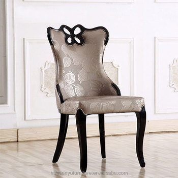 Wholesale Wooden Dining Room Chair Hotel Luxury Upholstered