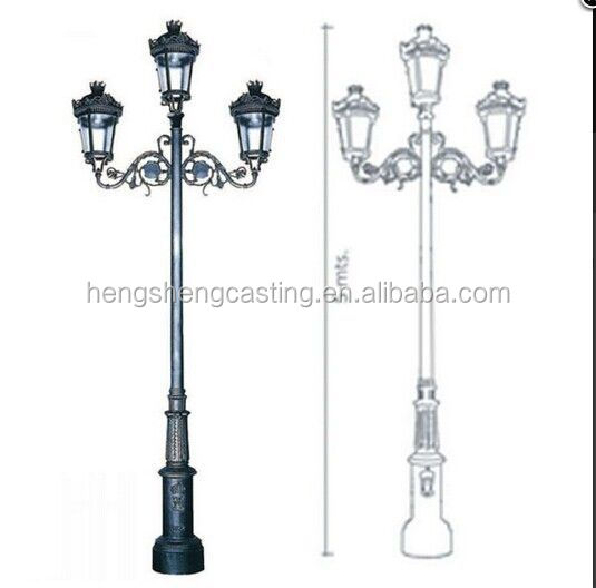 Cast iron outdoor lighting fixtures cast iron outdoor light pole high quality cast iron light post design light pole pole lamp buy aloadofball Images