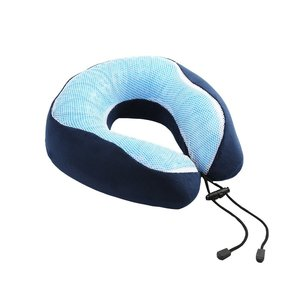 Cooling Gel infused Memory Foam Travel Neck Pillow for Head, Neck Support, Best for Sleeping, Traveling, Airplanes, Train