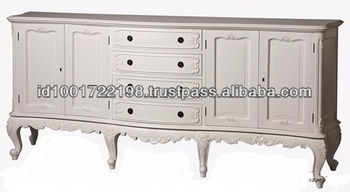 French Provincial Buffet 4 Doors 4 Drawer Mahogany Wood Buy French