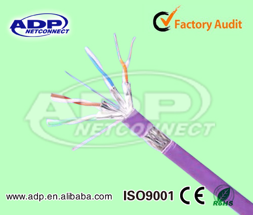Cat7 SFFTP Lan Cable 23AWG CU/CCA/CCS Conductor with UL certificates