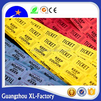 supplier raffle tickets lottery tickets arcade ticket roll custom raffle tickets lottery