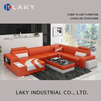 Lk Ls1552 Inflatable Orange Leather Sofa With Led Light Buy Orange