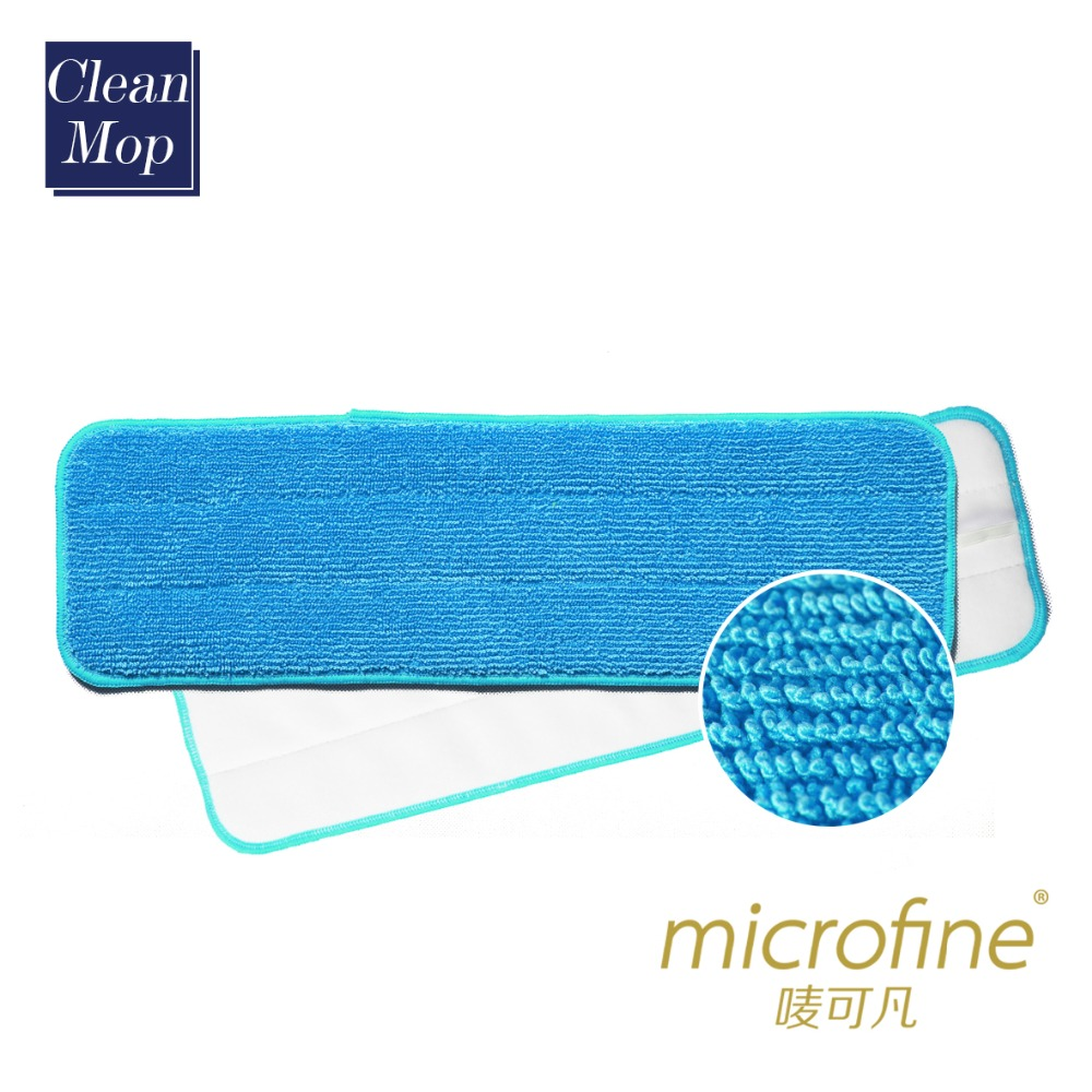 Microfiber dry and wet mop head