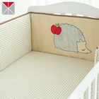 Graphic Customization Baby Crib Bed Bumper Polyester Cartoon Animal Design Baby Crib Cot Bumpers Bed