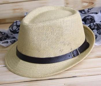 077a130edbfdb Pulseira de couro personalizado Chapéu Panamá Fedora Trilby chapéus fedora  baratos para ...