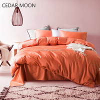 Embroider cotton set 400tc bedding sheet fitted sheet duvet set wholesale