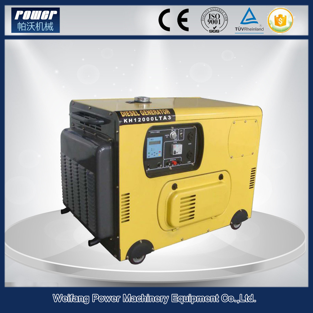 Air cooled single phase silent diesel generator set 7 kv for home using