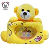 Wholesale Cute Kids 3D Plush Toy Yellow Teddy Bear Picture Photo Frame Custom Soft Baby Plush Bear Stuffed Animal Photo Frame