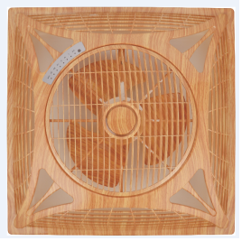 14 wood grain fancy ceiling box fan with big air flow