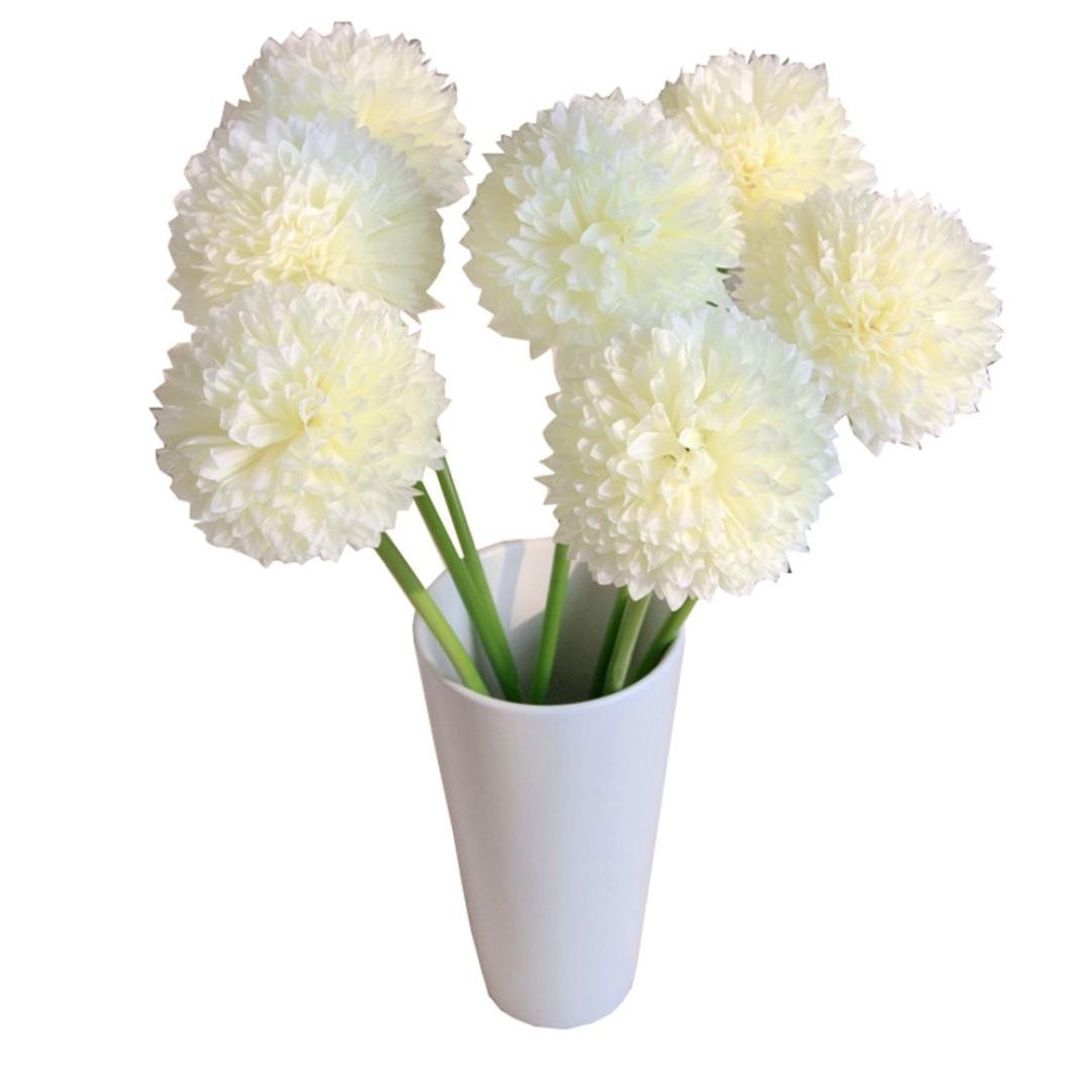 Cheap small white bouquet flowers find small white bouquet flowers get quotations creazy 5pcs lavender ball artificial silk flowers bouquet home wedding party decor white mightylinksfo